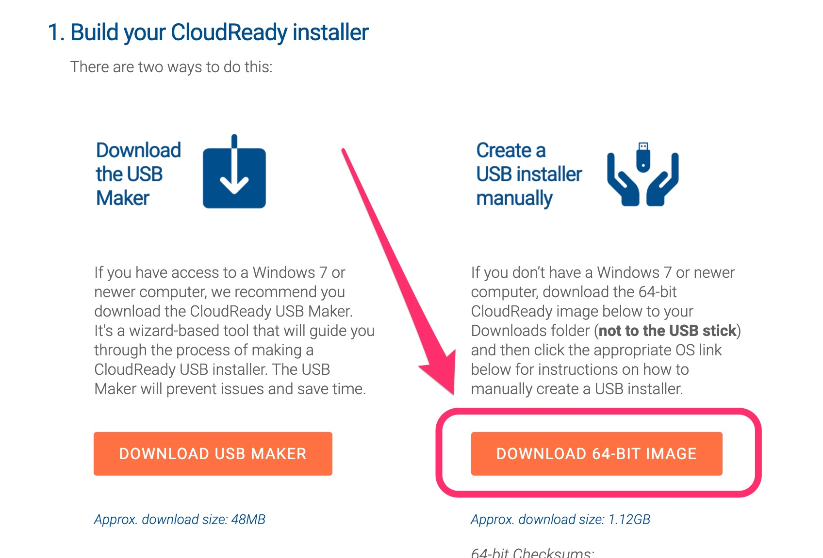 Create a USB installer manually